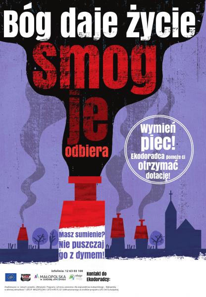 Smog albo zdrowie plakat
