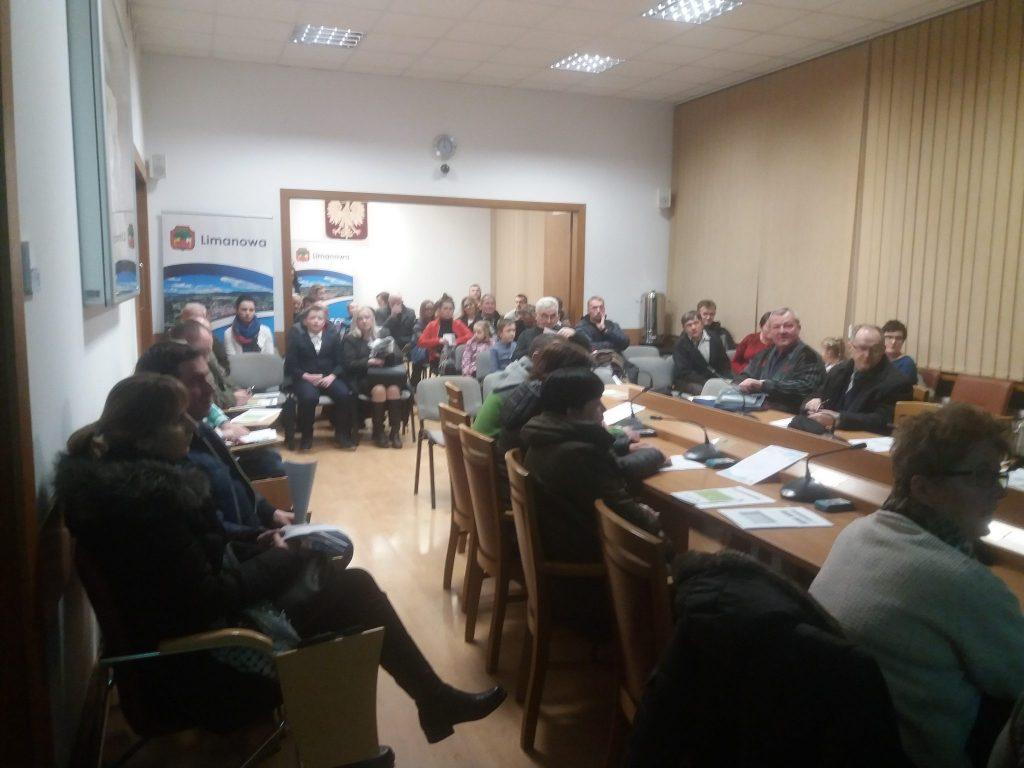 spotkanie z mieszkańcami Miasto Limanowa