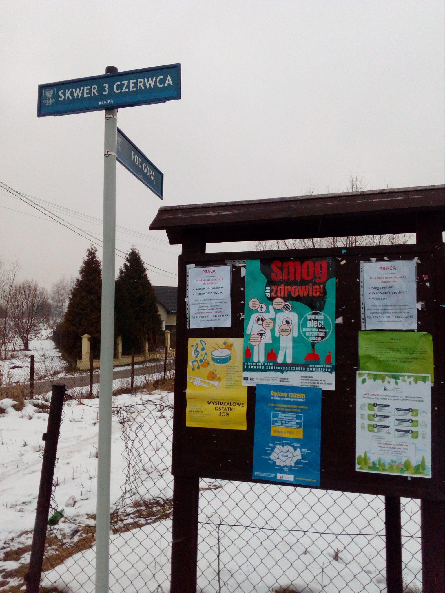 tablica w gminie Czernichów