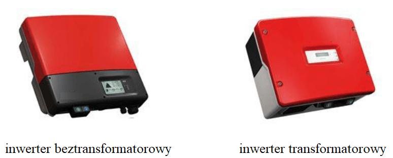 Falownik beztransformatorowy i transformatorowy