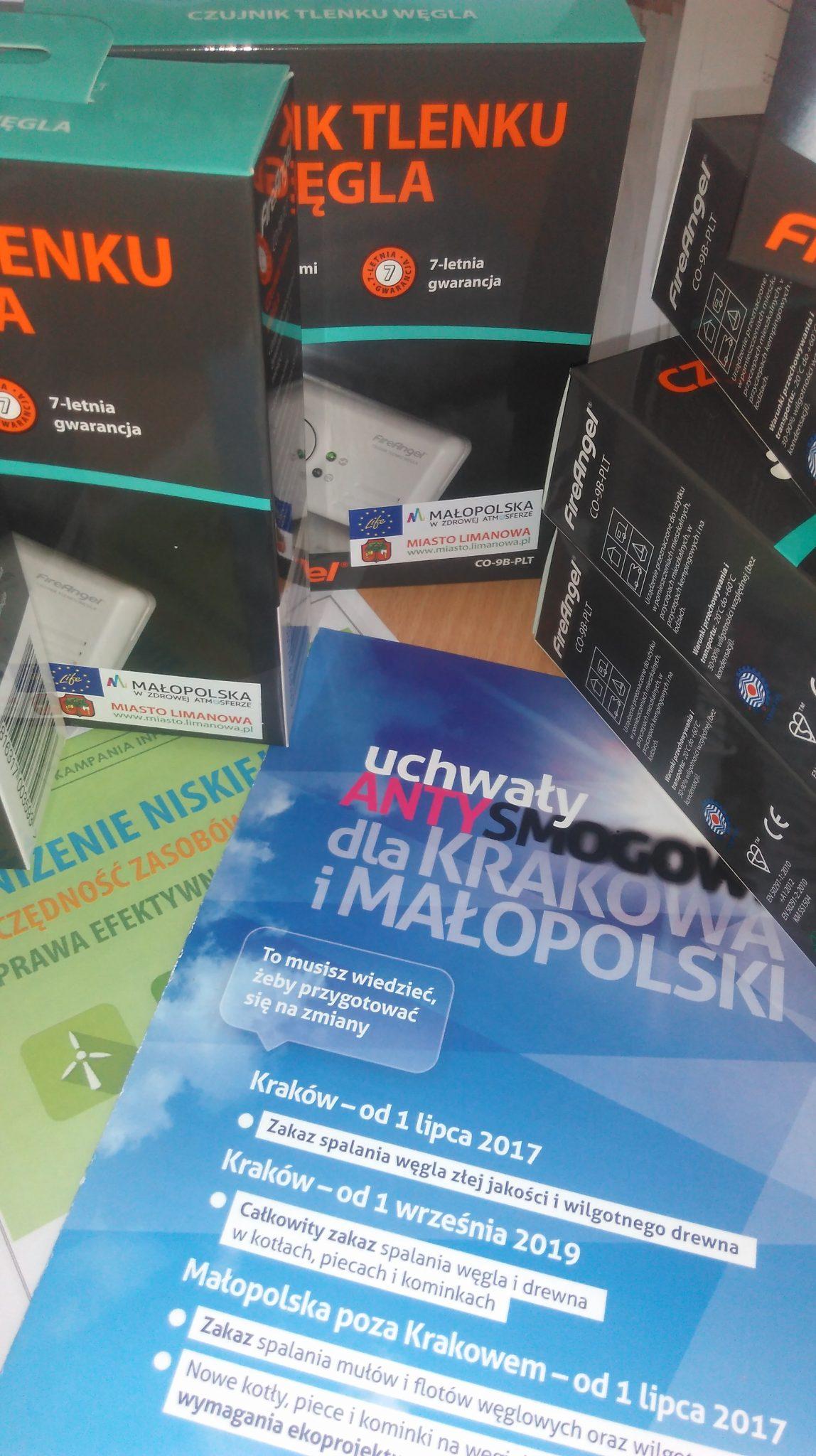 Materiały edukacyjne o tematyce ochrony powietrza (Limanowa)