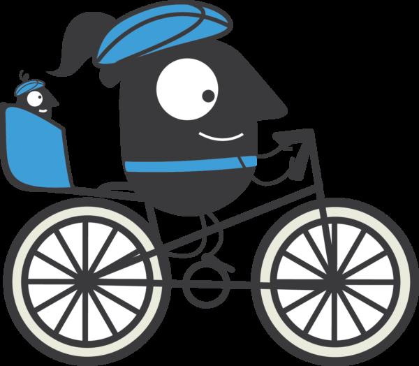 11 EMW Cyclist Female with Baby
